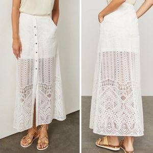NWT BCBG MAXAZRIA Harper Lace Maxi Skirt